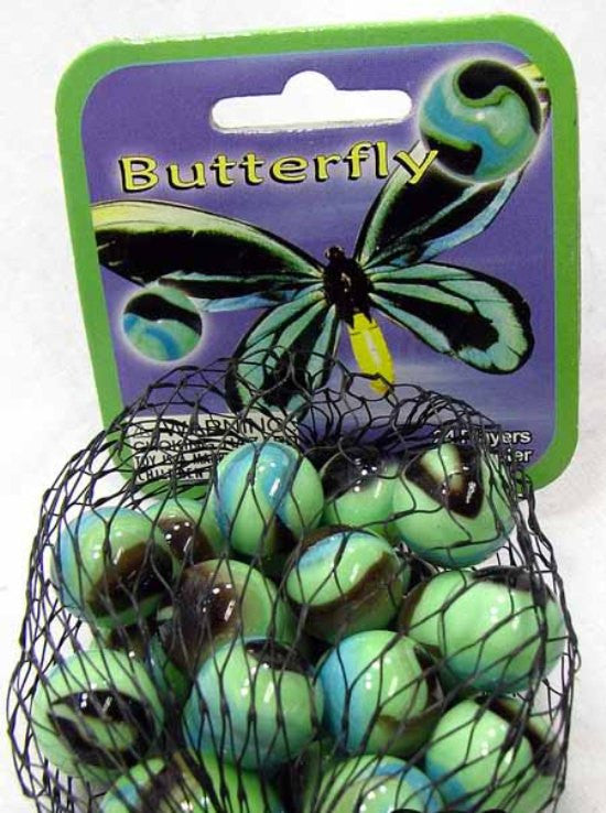 Butterfly Game Net Set 25 Piece Glass Mega Marbles