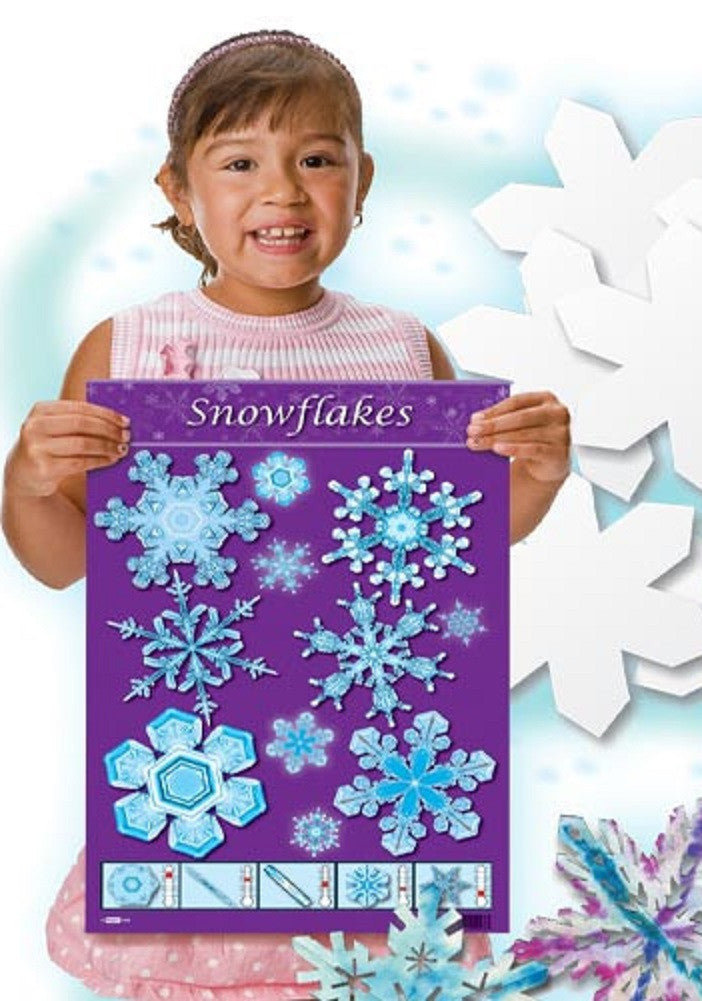 Color Diffusing Paper Snowflakes Kit w Poster by Roylco