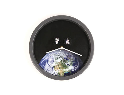 Astronauts Spacewalk Over Earth - Wall Clock by Kikkerland