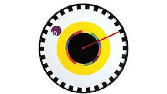 Clock It: Sprocket  Wall Clock Designed by Milton Glaser