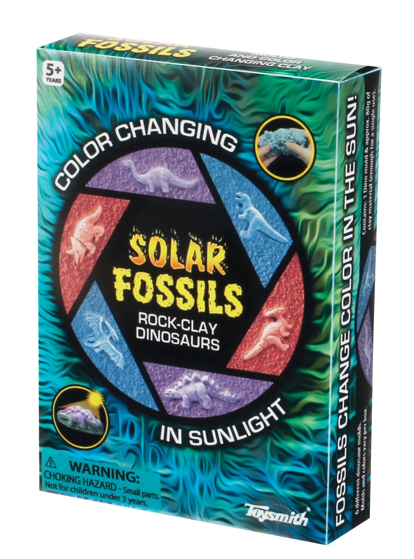 Color Changing Solar Fossil Rock Clay Dinosaur Styles Vary - Off The Wall Toys and Gifts