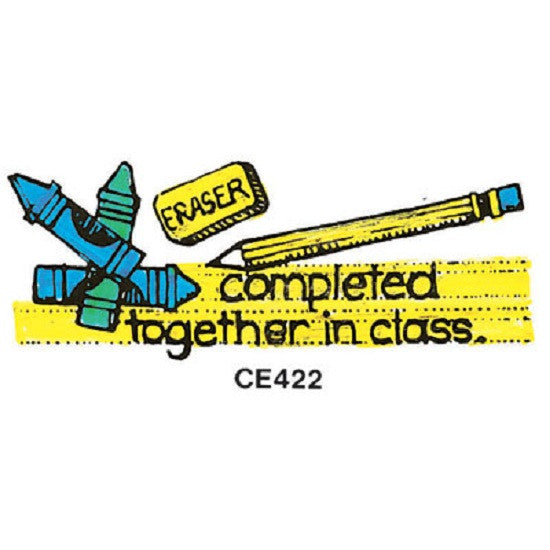 Completed Together In Class - Large Rubber Stamper: Teachers Aid