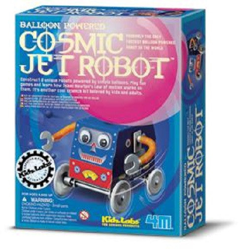 Cosmic Jet Robot 4M Kit- Balloon Powered-Builds 2 - Off The Wall Toys and Gifts