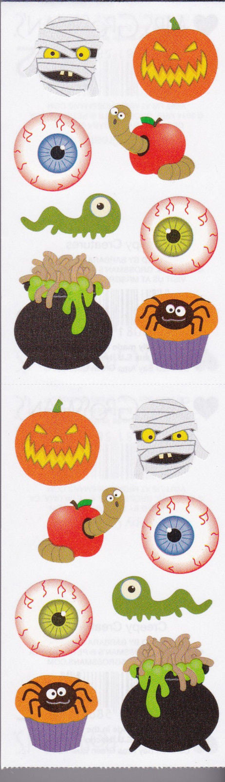 Mrs. Grossman's Stickers Halloween Creepy Creatures - Off The Wall Toys and Gifts