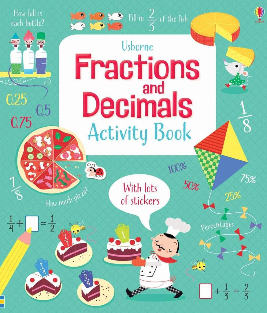 Usborne Fractions and Decimals Activity Book Paperback
