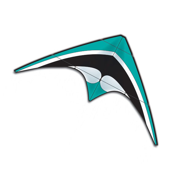 Teal X-Kite Nylon DC SPORT Stunt Kite - 5 Feet Wide - Dual Control - Off The Wall Toys and Gifts