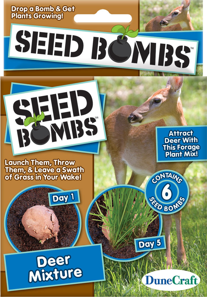6 Seed Bombs - Deer Mixture - Attract Deer