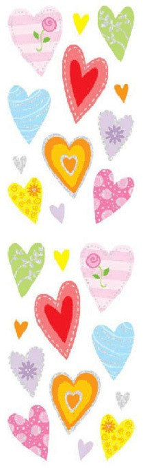 Mrs Grossman's Stickers - Delightful Hearts - Foil Accent