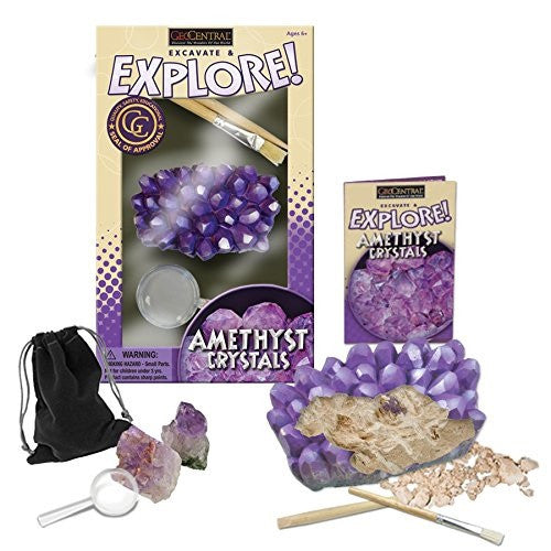 Amethyst Cluster Excavation Kit - Geo Central Geology Dig Activity - Off The Wall Toys and Gifts