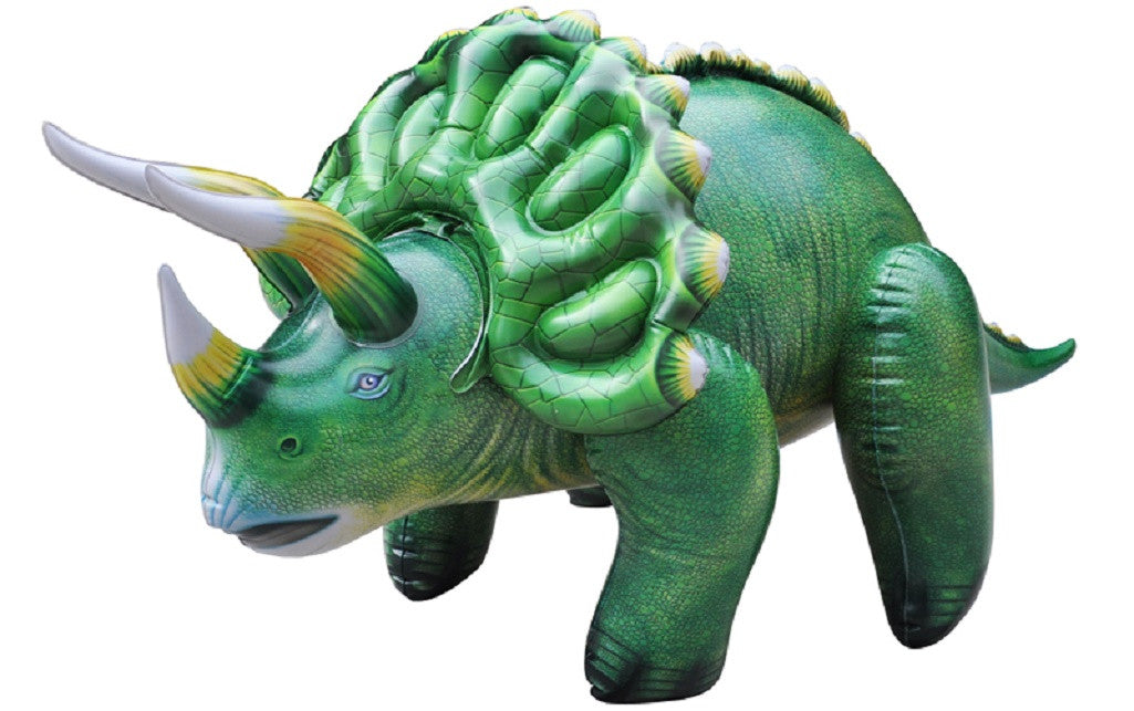 Inflatable Triceratops Dinosaur Model - 43 Inch Dino Figure - Off The Wall Toys and Gifts