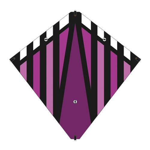 30 Inch X-Kites Purple Stunt Diamond Kite w/Double Handles & Line