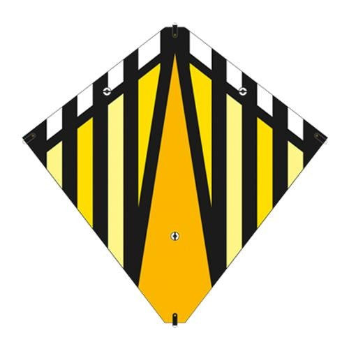 30 Inch X-Kites Yellow Stunt Diamond Kite w/Double Handles & Line