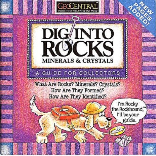 GeoCentral - Dig Into Rocks Booklet - Off The Wall Toys and Gifts