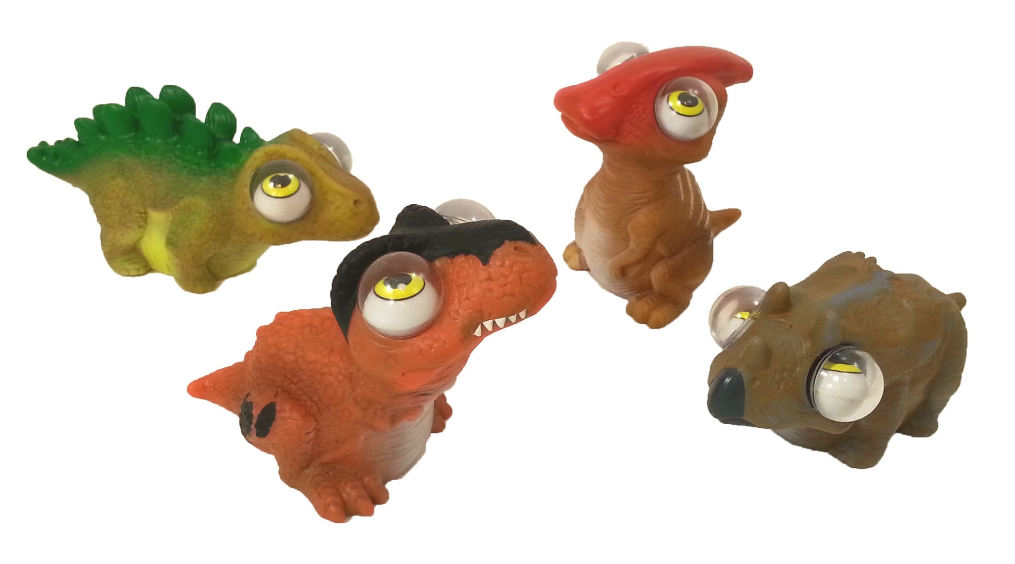 Dino PopEyes Figures - Dinosaur Toys Set of 4 by GeoCentral - Off The Wall Toys and Gifts
