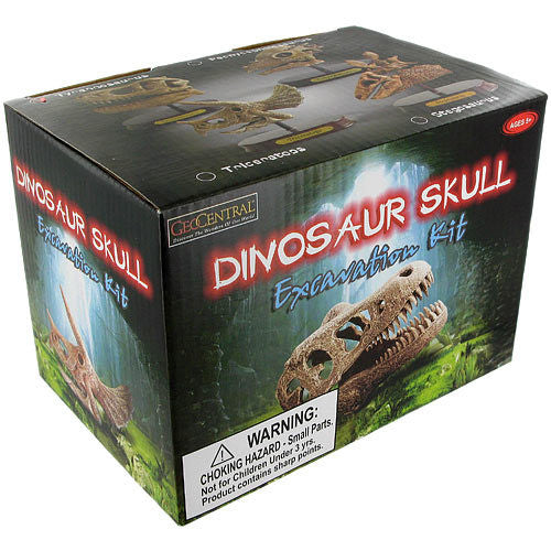 GeoCentral Dinosaur Skull Excavation Kit - Triceratops - Off The Wall Toys and Gifts