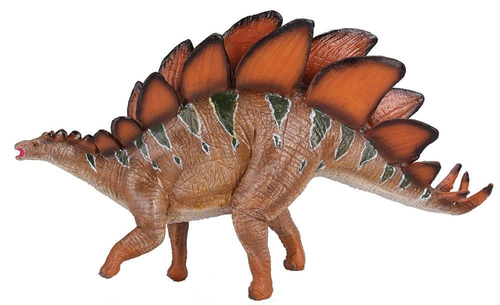 "8"" Long Stegosaurus Dinosaur Action Figure w/Activity Book, by Dr. Cool"