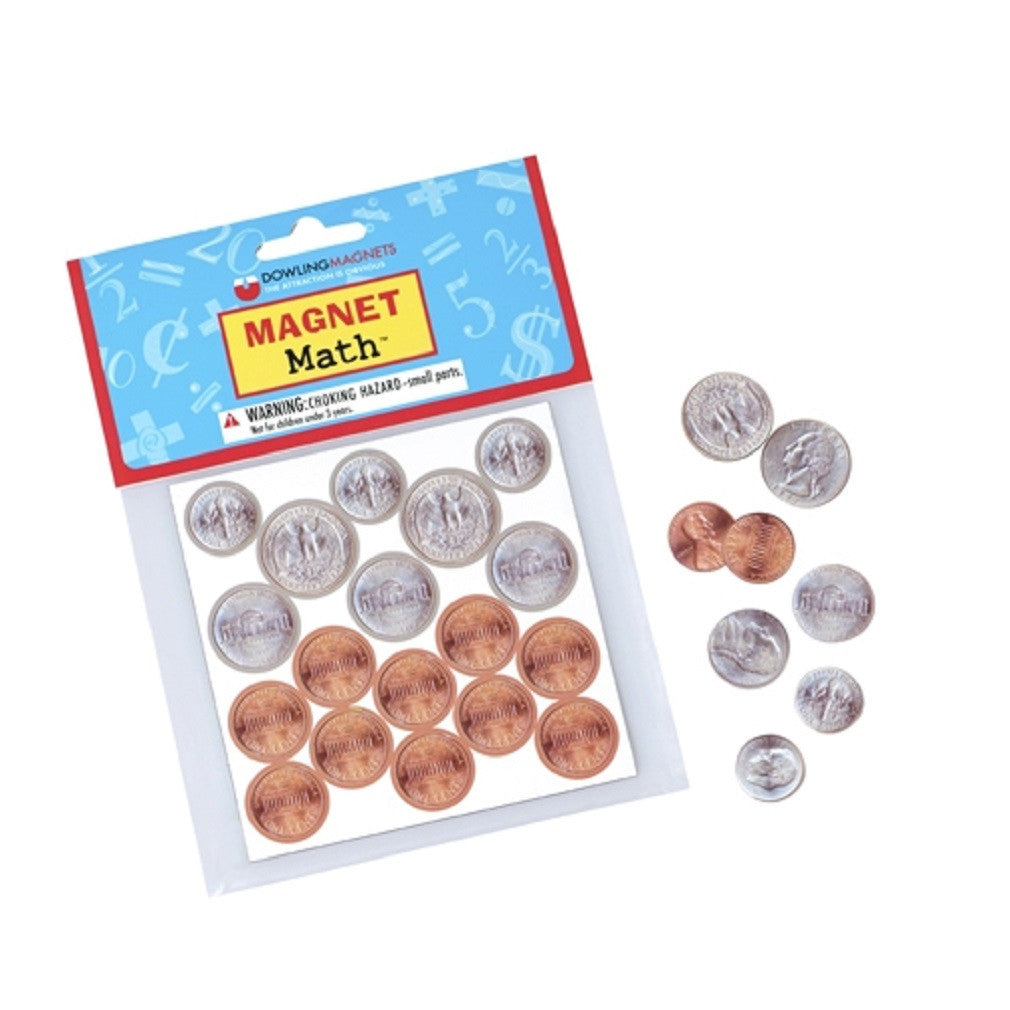Magnet Math - 72 Assorted Magnetic US Coin Replicas - Off The Wall Toys and Gifts