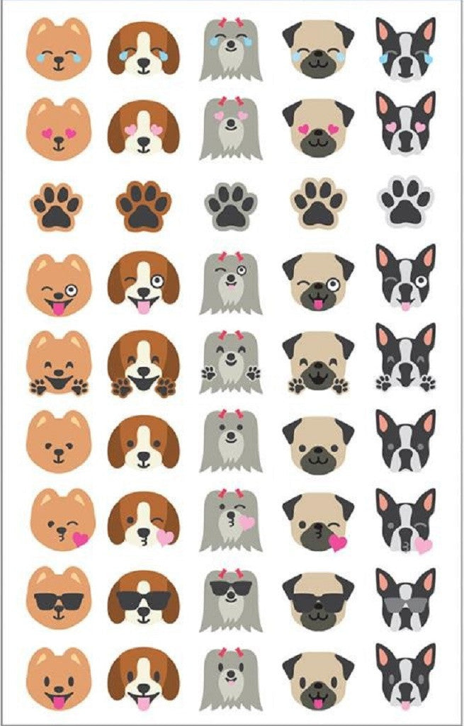 Mrs. Grossman's Stickers Dog Face Emotions Giant Roll - Off The Wall Toys and Gifts