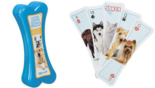 Dog Gone Cards - Bone Shaped Playing Cards With Dog Images