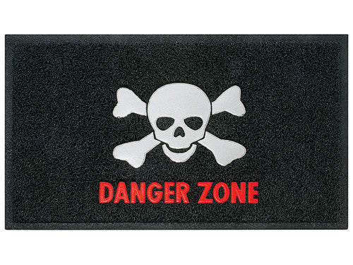 Danger Zone Skull & Crossbones Plastic Doormat - Off The Wall Toys and Gifts