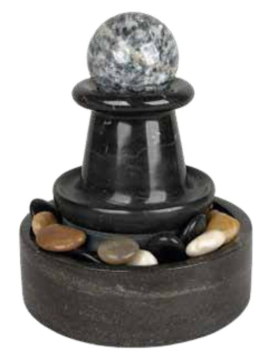 Indoor Marble Sphere Fountain - Double Fluted Polished - Free Shipping - Off The Wall Toys and Gifts