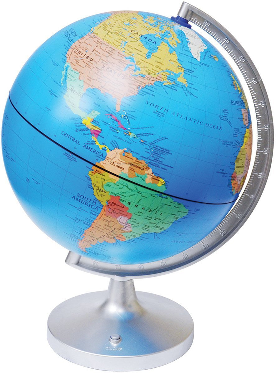 "11"" Dual-Cartography Illuminated Globe - Off The Wall Toys and Gifts"