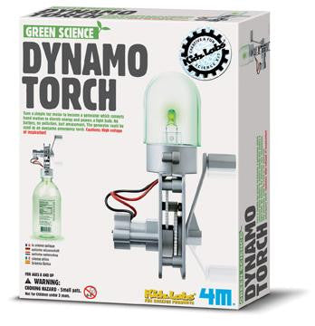 Dynamo Torch 4M Kit - Motor Becomes a Generator Electricity Green Science
