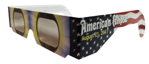 Pack of 3 American Flag Solar Eclipse CE Certified Glasses