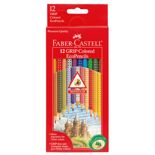 Kids GRIP Colored EcoPencil Set - Childrens 12 Ct. GRIP Colored EcoPencils - Off The Wall Toys and Gifts