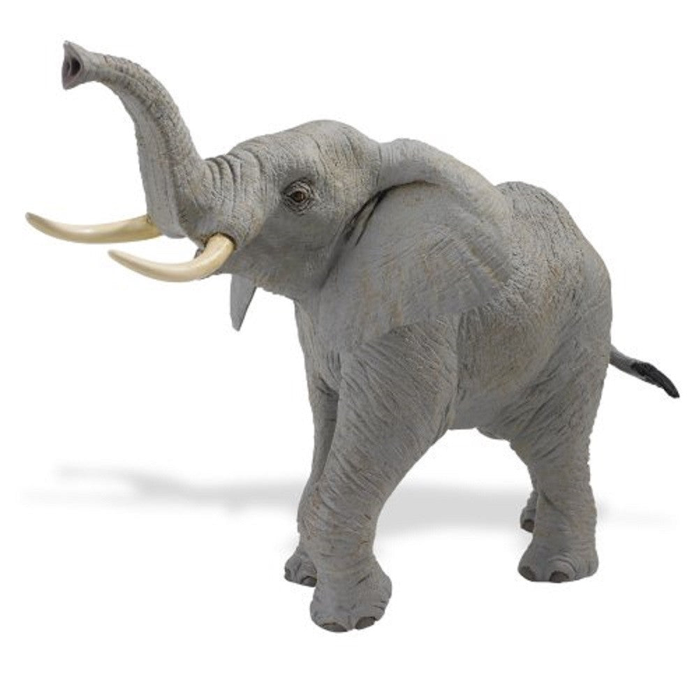 African Elephant - Lifelike Rubber Wildlife Replica 12 Inches - Off The Wall Toys and Gifts