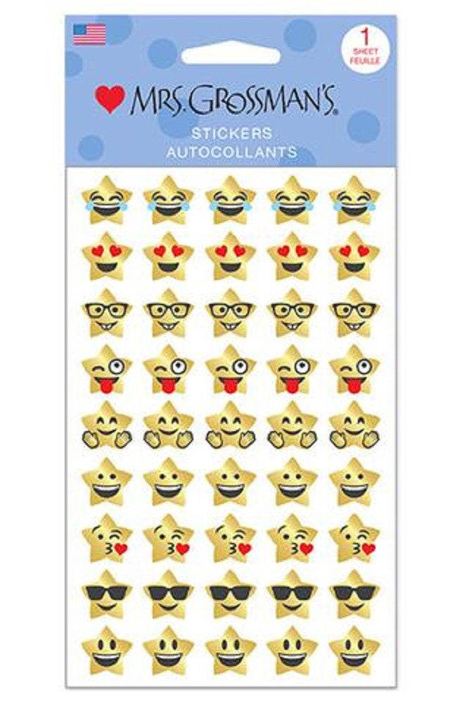 Mrs. Grossman's Stickers Gold Star Emotions - Off The Wall Toys and Gifts