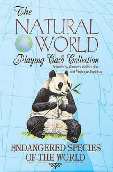 ENDANGERED SPECIES of the Natural World Art Playing Cards