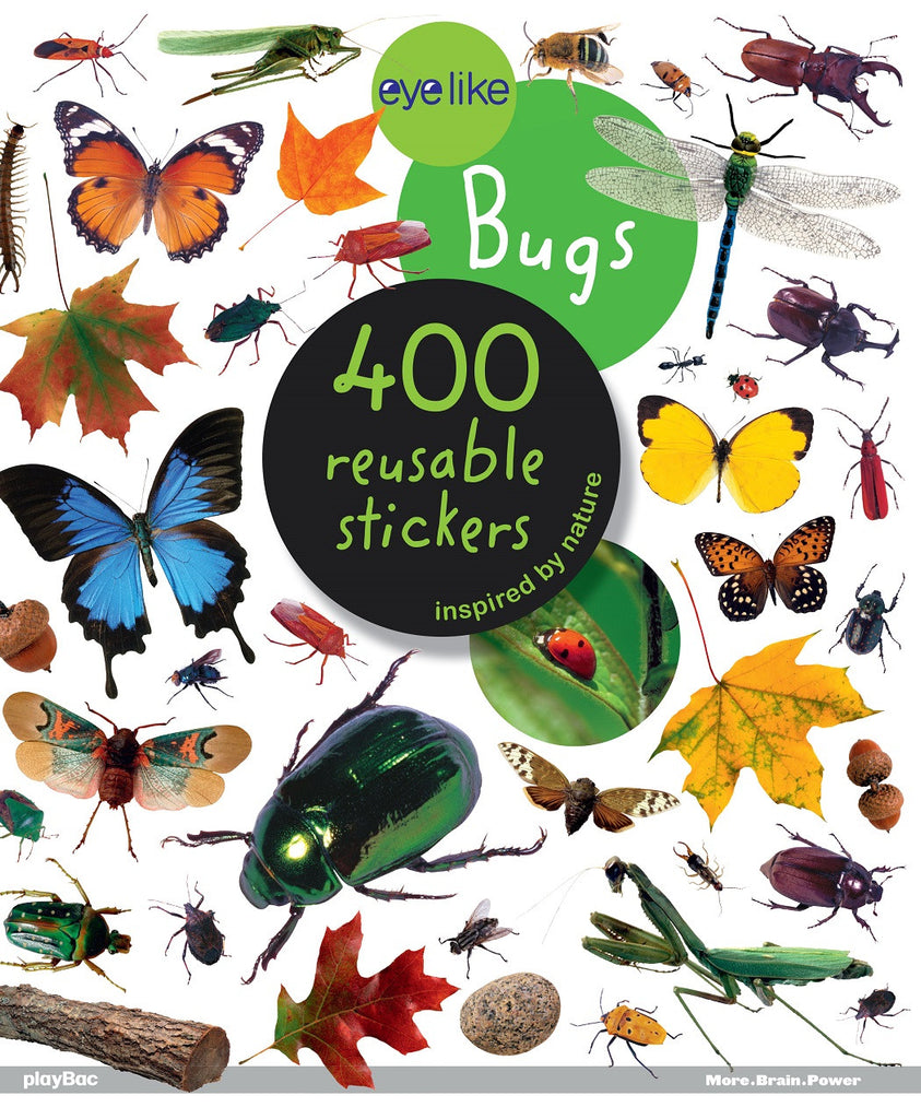 Eyelike Sticker Book: Bugs of the World w/400 Reusable Stickers