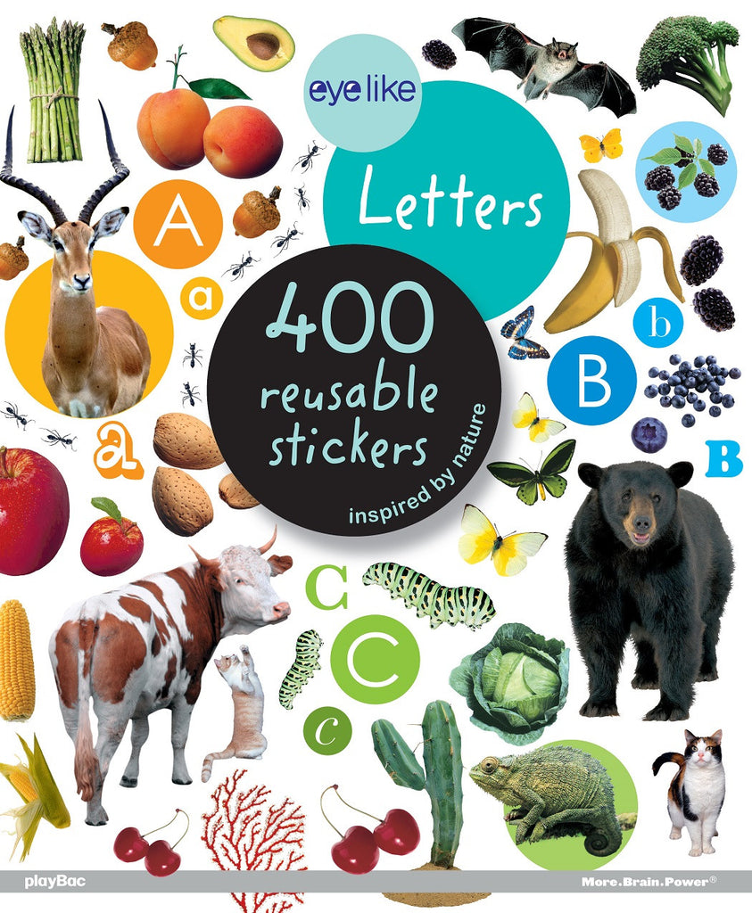 Eyelike Sticker Book: Illustrated Letters of the Alphabet w/400 Reusable Stickers