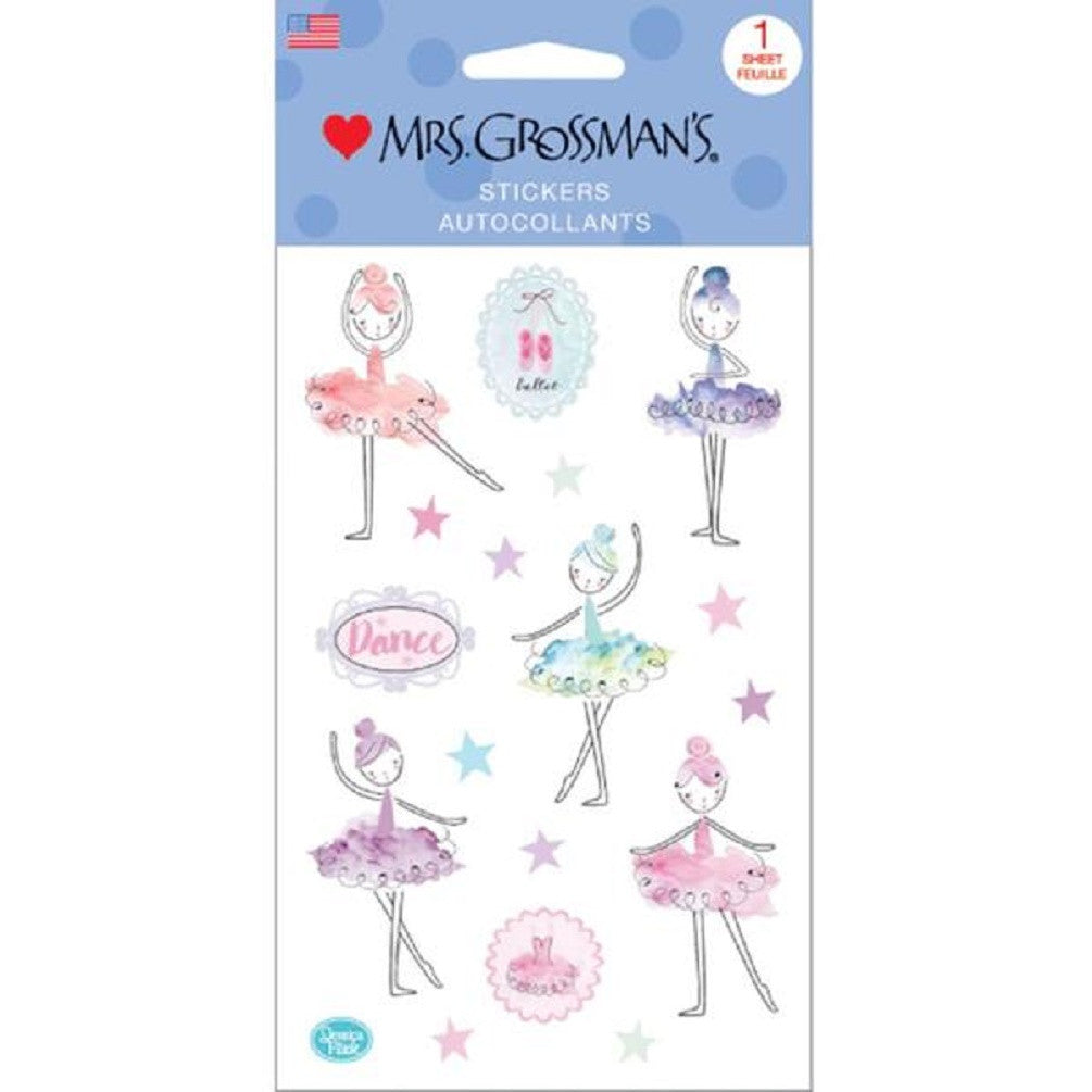 Mrs. Grossman's Stickers Fanciful Ballerinas - Off The Wall Toys and Gifts