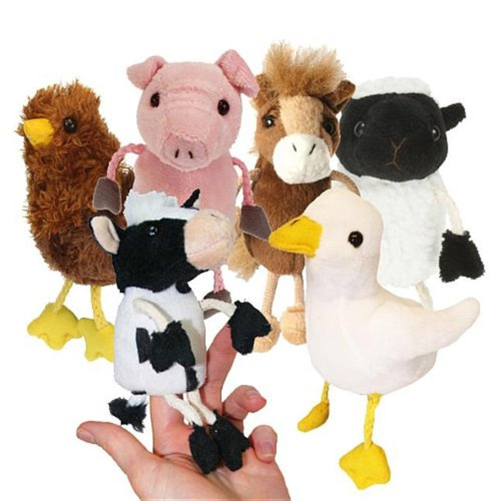 Farm Animals Finger Puppets - Set of 6 - The Puppet Company
