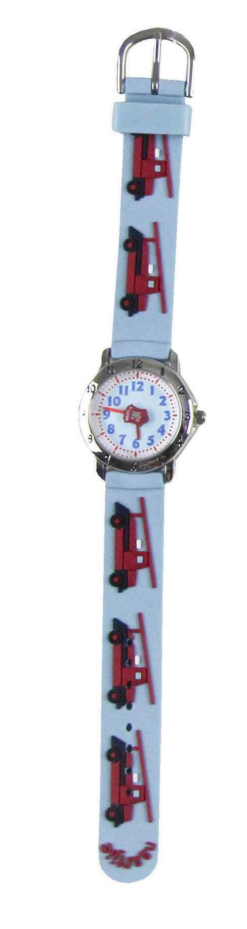 Naartjie Fire Engine Watch Blue Band - Off The Wall Toys and Gifts
