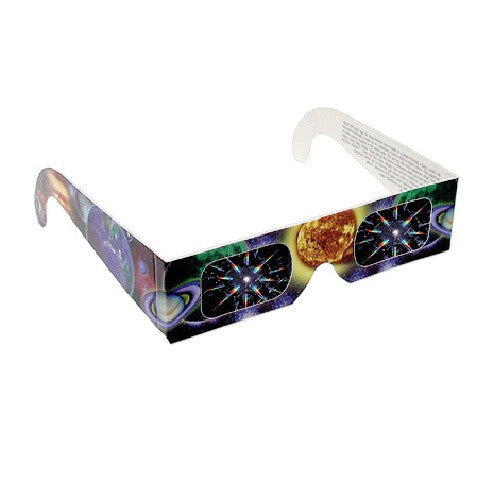 3D Fireworks Glasses w/ Sun and Planet Design See Starbursts - Pack of 10 - Off The Wall Toys and Gifts