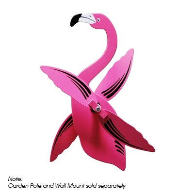 Flamingo WhirlyGig - Spinning Lawn Ornament