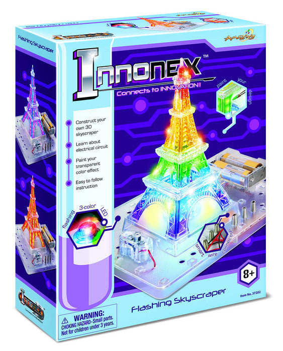 Innonex Build and Paint Your Own Flashing Skyscraper by Amazing Toys - Off The Wall Toys and Gifts