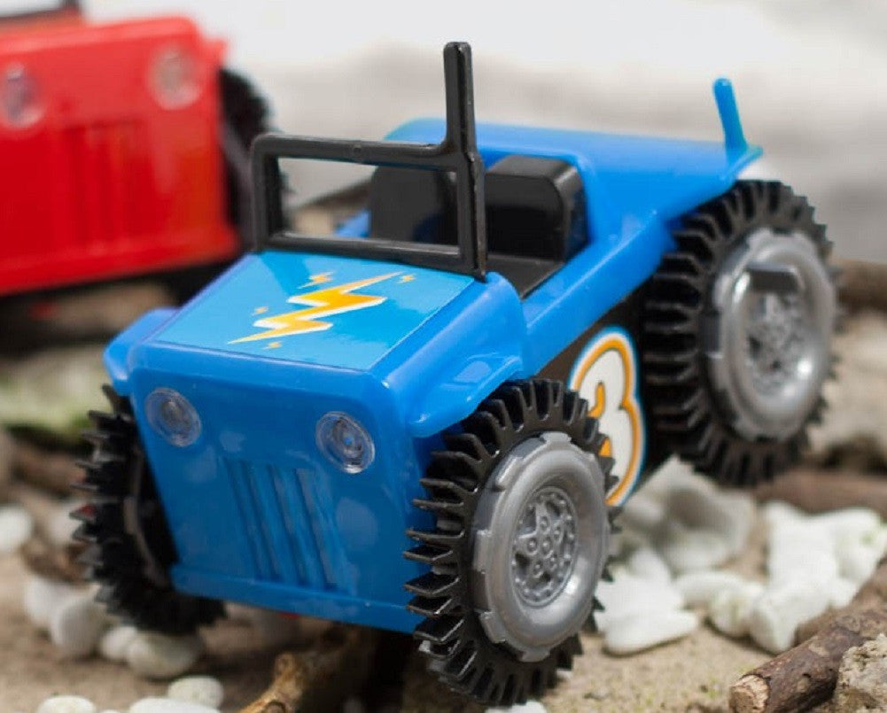 Micro Flip Trux Blue Lightning by Toysmith - Off The Wall Toys and Gifts