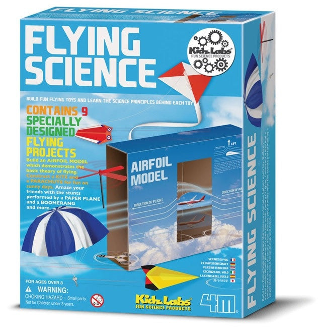 4M  Flying Science Kidz Labs Kit: 9 Fun Flying Projects - Off The Wall Toys and Gifts
