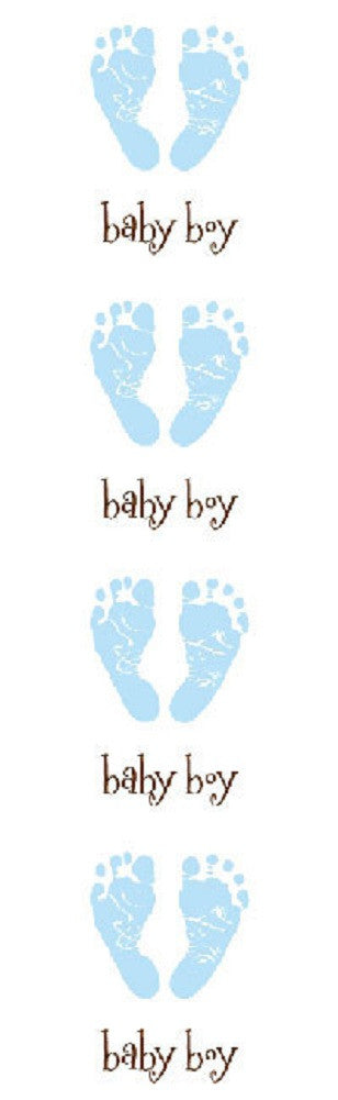 Mrs Grossman's Stickers - Baby Blue Footprints - Off The Wall Toys and Gifts