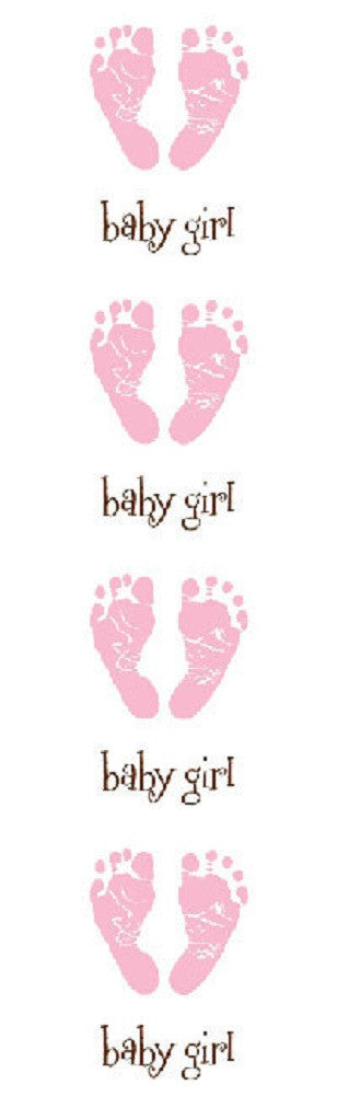 Mrs Grossman's Stickers - Pink Baby Footprints - Off The Wall Toys and Gifts