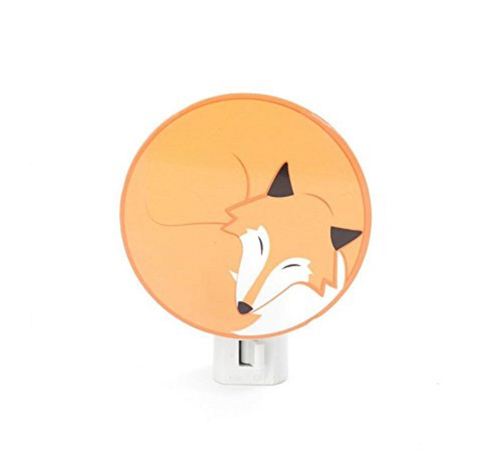 Kikkerland Fox Night Light - 3.25 Inch Illuminated Animal Image - Off The Wall Toys and Gifts