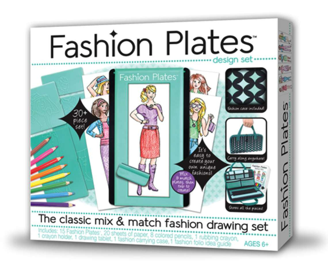 Fashion Plates Deluxe Design Set Classic Mix & Match Drawing Set - Off The Wall Toys and Gifts