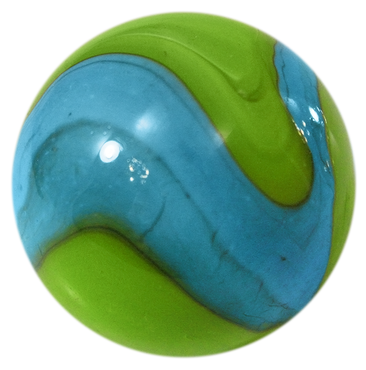 Mega Marble - Mermaid Mammoth - Large 1-5/8 Inch Glass Marble