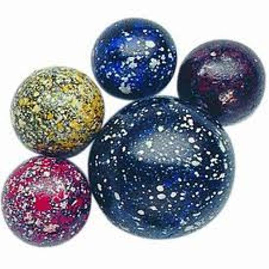 Galaxy Game Net Set 25 Piece Glass Mega Marbles