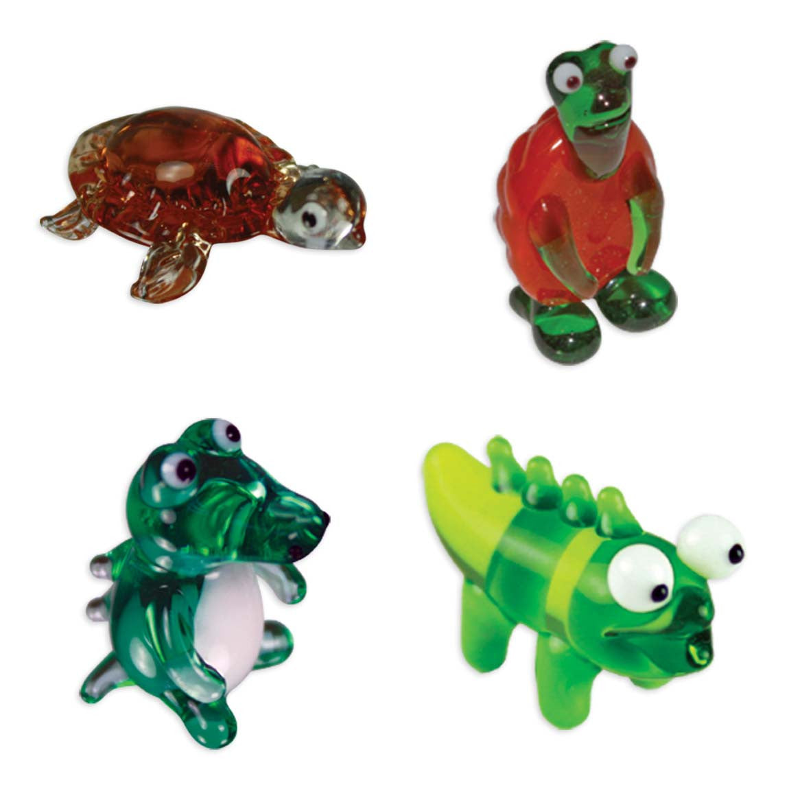 Looking Glass Torch - Reptiles - Tortoise, Turtle & 2 Different Gators (4-Pack) - Off The Wall Toys and Gifts