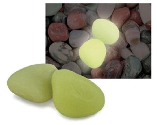 GeoCentral - 3 Synthetic Glow Stones - w Info Cards - Glows In The Dark - Off The Wall Toys and Gifts